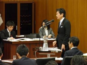 東日本大震災復興特別委員会にて質問