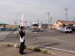 朝の街頭演説