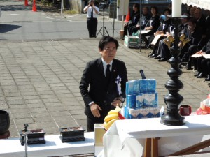平成25年度小田山忠霊堂慰霊祭