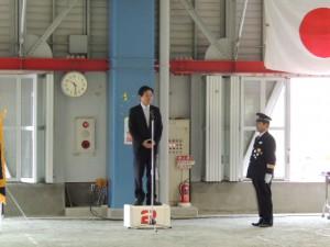 平成25年度柳津町秋季消防検閲式