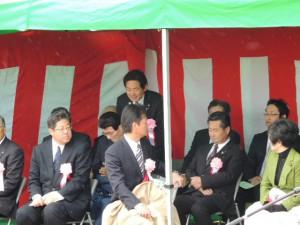 渡部恒三先生顕彰彫像除幕式