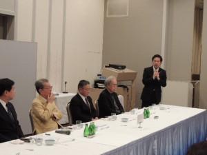 渡部恒三先生を囲む会津方部現職元職首長の会