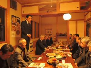 湯川村小熊慎司を囲む新年会