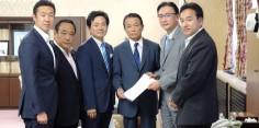 2015年 第7回太平洋・島サミット開催(福島県いわき市)について麻生財務大臣・岸田外務大臣へ要望書提出