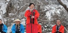第37回会津かねやま雪まつり開会式 福まき
