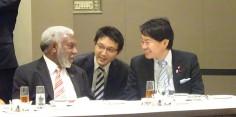 島サミット訪日団と日本・太平洋島嶼国友好議員連盟主催昼食会