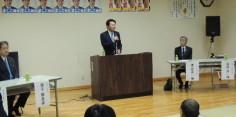 小熊慎司・増子輝彦田島田部原地区合同国政報告会