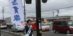 朝の街頭演説/2017年総選挙後辻立ち32回目