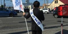 朝の街頭演説/2017年総選挙後辻立48回目