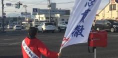 朝の街頭演説/2017年総選挙後辻立74回目