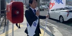 朝の街頭演説/2017年総選挙後辻立82回目