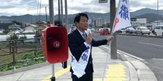 朝の街頭演説/2017年総選挙後辻立89回目