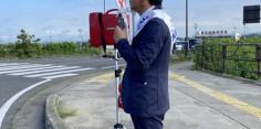 朝の街頭演説/2017年総選挙後辻立132回目