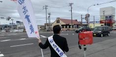 朝の街頭演説/2017年総選挙後辻立140回目