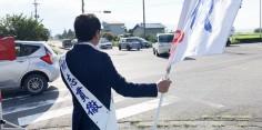 朝の街頭演説/2017年総選挙後辻立143回目
