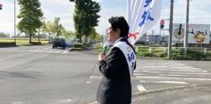 朝の街頭演説/2017年総選挙後辻立149回目